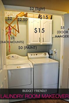 $45 DIY Laundry Room Makeover