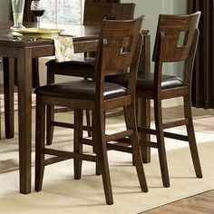 Homelegance 1379-24(QTY-2) Baldwin Hills Counter Height Chair Set Bar Stool, Mocha (2 pack) - Home Furniture Showroom