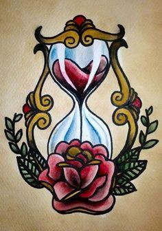 tatuaje:reloj de arena.