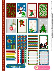 Planner & Journaling Printables ❤ free printable Christmas stickers for Erin Condren and Happy Planner boxes To Do Planner, Happy Planner, Planner Ideas, Life Planner, Planner Decorating, Free Christmas Printables, Printable Planner Stickers, Christmas Stickers, Noel Christmas