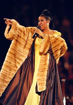 Aretha Franklin. The #queenofsoul in full #powerpose. Sometimes a full length mink coat is the perfect finishing touch.