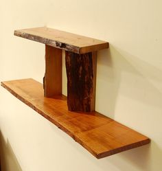 No. 32 Two Level Live Edge Cherry Shelf by ADrauglis on Etsy