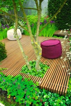 Boardwalk style deck  Pin adicionado de indoor-gardeningtips.com