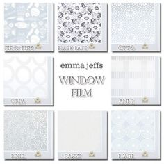 Cover up ugly windows/views with window film. Great for apartments.  Emma Jeffs Adhesive Film $8 for 8 Samples
