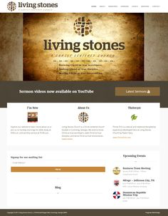 Frogtown Web Design created a new WordPress church site for Living Stones Church. Does your church website need an upgrade? Portfolio Web Design, Wordpress, Stones, Website, Live, Rocks, Stone, Rock