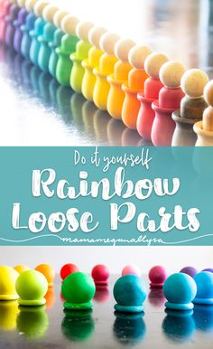 Diy montessori toys - Loose Parts Tools Simple Additions to Spark Creativity – Diy montessori toys Diy Montessori Toys, Montessori Toddler, Toddler Toys, Baby Toys, Grimms Rainbow, Diy Wood Stain, Wooden Rainbow, Homemade Toys, Wood Toys