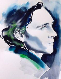 Loki Tom Hiddleston Original Watercolour by KimberlyGodfrey, £95.00