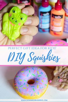 How to make squishies videos squishies kawaii squishies how to make s How To Make Squishies, Homemade Squishies, Diy Crafts To Sell, Diy Crafts For Kids, Easy Crafts, Diy Crafts Kawaii, Sell Diy, Summer Crafts, Kids Diy