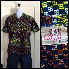 A personal favorite from my Etsy shop https://www.etsy.com/listing/226823523/vintage-1940s-batik-loop-shirt-calypso