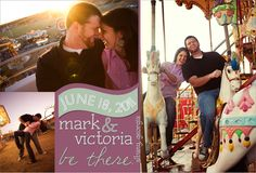 Save the Date magnet I created for Mark + Victoria