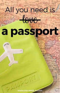 All you need is a passport Find more FUNNY travel quotes at https://one-week-in.com/funny-travel-quotes/ #travelquotes #funnytravelquotes #englishtravelquotes #inspirationalquotes #quotes