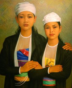 Thai Sisters Artist Painting, Painting & Drawing, Rose Jeans, He Is Able, Portraits, First World, American, Gallery, Poet
