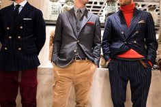 At the influential men's wear fair Pitti Uomo, Brunello Cucinelli and Tommy Hilfiger presented wide-legged trousers with lots of room in the seat.