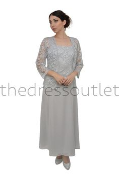 Simple Modest Mother of the Bride Dress Plus Sizes Matching Jacket Formal #TheDressOutlet #Formal