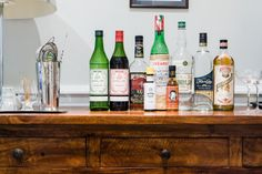 The Bar: A Guide to the Small Yet Mighty Home Bar — Kitchn Nifty Diy, Cool Diy, Small Liquor Cabinet, Aromatic Bitters, London Dry Gin, Custom Bottles, Vegetable Drinks, New Energy, Bars For Home
