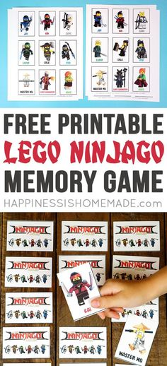 Printable LEGO NINJAGO Movie Games - this memory matching game is fun for the whole family! The perfect way to celebrate the premiere of The LEGO NINJAGO Movie (in theaters September 22nd!) #LEGONINJAGOmovie #ad
