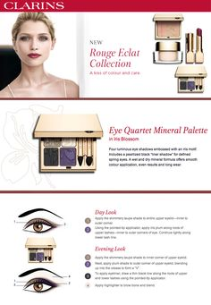 Get the Rouge Eclat Spring 2013 Make-Up Look with Eye Quartet Mineral Palette in Iris Blossom.