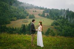 Olenka and Mykola's 10 guest, $4,000 Chalet Wedding overlooking the Carpathian Mountains. Nickolay Debelinsky Photography. See their photos and vimeo here......, @intimateweddings.com #budgetwedding #smallwedding