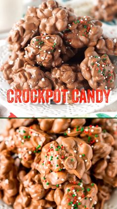 Crockpot Candy is an easy recipe loaded with peanuts, almond bark, and lots of chocolate and super simple to make in the slow cooker! # Food and Drink videos slow cooker Crockpot Candy Christmas Snacks, Christmas Cooking, Holiday Baking Ideas Christmas, Christmas Dinner Ideas Appetizers, Christmas Trash Recipe, Homemade Christmas Candy, Easy Christmas Baking Recipes, Christmas Deserts Easy, Christmas Dessert Recipes