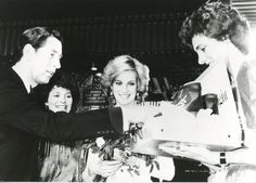 """December 5, 1984: Prince Charles and Princess Diana attending """"The Starlight Express"""" Premiere in aid of the Birthright charity at the Apollo Theatre, London."""