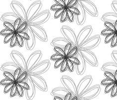 flower_burst_Gray fabric by stickelberry on Spoonflower - custom fabric