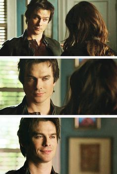 The way he looks at her even after she's left