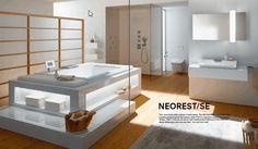 Modern Bathroom Design Trends from TOTO, Green Ideas and Eco Friendly Bathroom Fixtures Minimalist Bathroom Design, Bathroom Design Luxury, Minimalist Design, Minimalist Style, Luxury Bathrooms, Modern Bathrooms, White Bathrooms, Bathroom Interior, Beige Bathroom