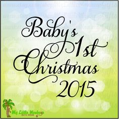 Baby's First Christmas Design with 6 Year Options 2 Weights Digital Design Clipart Cut File Instant Download SVG EPS DXF Jpeg Png File - pinned by pin4etsy.com
