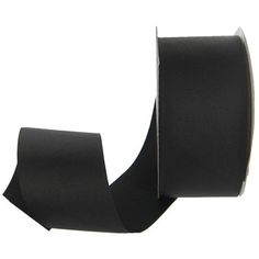 "Black 2"" Matte Grosgrain Ribbon"