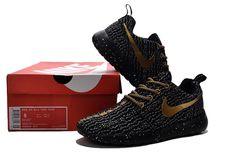 timeless design 0472e c6307 Nicely Nike Roshe Run Yeezy Black Gold Women Men Cheap Nike Roshe, Nike  Roshe Run