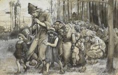 Study for the Painting 'The Pied Piper of Hamelin' by James Elder Christie