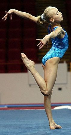 Nastia Liukin. Worked out with this little girl at WOGA, once upon a time.