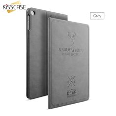 KISSCASE Flip Cases For iPad Pro 9.7 Air Air 2 Leather Coque Deer Pattern Ultra Protective Cover For iPad Pro 9.7 For iPad 5 6