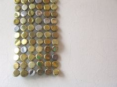 All That Glitters - bottle cap tapestry