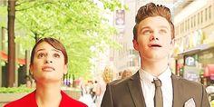 Kurt and Rachel seeing the Gershwin Theater