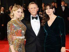 Daniel Craig, Lea Seydoux and Monica Bellucci attend the #Spectre red carpet as James Bond kicks into high gear! #JamesBond