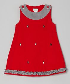 Take a look at this Red Penguin Ruffle Jumper - Infant, Toddler & Girls on zulily today!