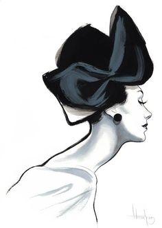 Fashion by Fernando Vicente Fashion Illustration Fashion Prints, Fashion Art, Editorial Fashion, Fashion Styles, Style Fashion, Illustration Mode, Graphic Design Illustration, Silhouette Mode, Music Painting