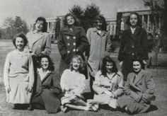 Joan Matheis, class of '47. Passed away on May 16, 2016. Featured here with Ann Morse, June Morton, Elizabeth Mullen, Margaret Munnerlyn, Katherine Munter, Jacqueline Murray, Elizabeth Newell, and Gloria O'Hearn. No obituary found.