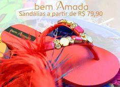 Muito estilo neste verão colorido! Com as Sandálias da Bem Amada você não fica fora da tendência 2015. Venha conferir na Adoro Presentes. #AdoroPresentes #Bolsas #Colorido #BemAmada #Vermelho #moda #fashion #Mulher #Praia #Summer #Sandália