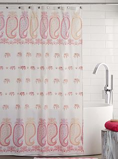 This colourful shower curtain will add an exotic boho touch to your bathroom…