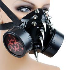 cyberpunk gas mask cyborg gothic emo fetish cosplay sci-fi dark     h