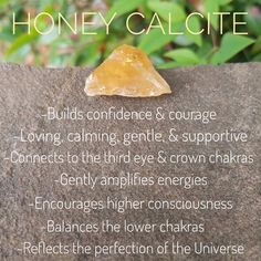 Honey Calcite, aka Amber Calcite, is an uplifting & gentle stone with its spiritual connections & balancing energies. Amber Crystal, Crystal Magic, Crystal Healing Stones, Crystals Minerals, Crystals And Gemstones, Stones And Crystals, Chakra Healing, Chakra Meditation, Honey Calcite