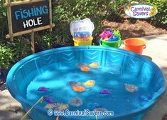 16 DIY Carnival Games For Your Next Big Bash! - - fishing-hole-carnival-game-to-buy-jpg Homemade Carnival Games, Carnival Games For Kids, Birthday Party Games For Kids, Carnival Ideas, Spy Party, Carnival Birthday, 3rd Birthday, Halloween Carnival, Carnival Party Games
