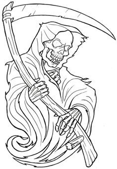 find this pin and more on referencias de ceifador skull tattoo coloring pages