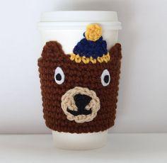 Cal Bears Cup Sleeve UC Berkeley Coffee Cozy by MsAmandaJayne, $16.00