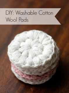 Cotton Wool Pads Free Crochet Pattern Free crochet pattern for these DIY washable makeup remover pads on .ukFree crochet pattern for these DIY washable makeup remover pads on . Crochet Home, Crochet Gifts, Free Crochet, Knit Crochet, Cotton Crochet, Puff Stitch Crochet, Crochet Faces, Crochet Simple, Easy Crochet Patterns