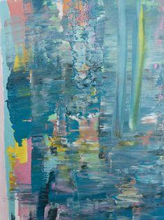 "Saatchi Online Artist: Vanessa Navarrete; Oil, 2013, Painting ""City on a Lake"""