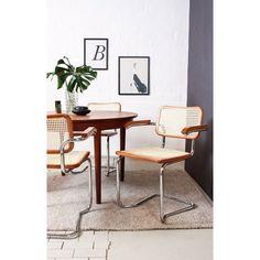 Cantilever Chair Natural Style Breuer Thonet S 64 Armrests Steel Tube Design Bauhaus Viennese Braid Vintage Hygge Skandi Cesca Wood