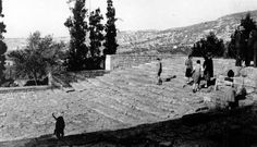 """Palace of Minos at Cnossos, Crete Apr. 25, 1940 Theatral Area, restored. Cf. P.100 and Plate XXII in Baikie -  The Sea Kings of Crete Use of stone…"